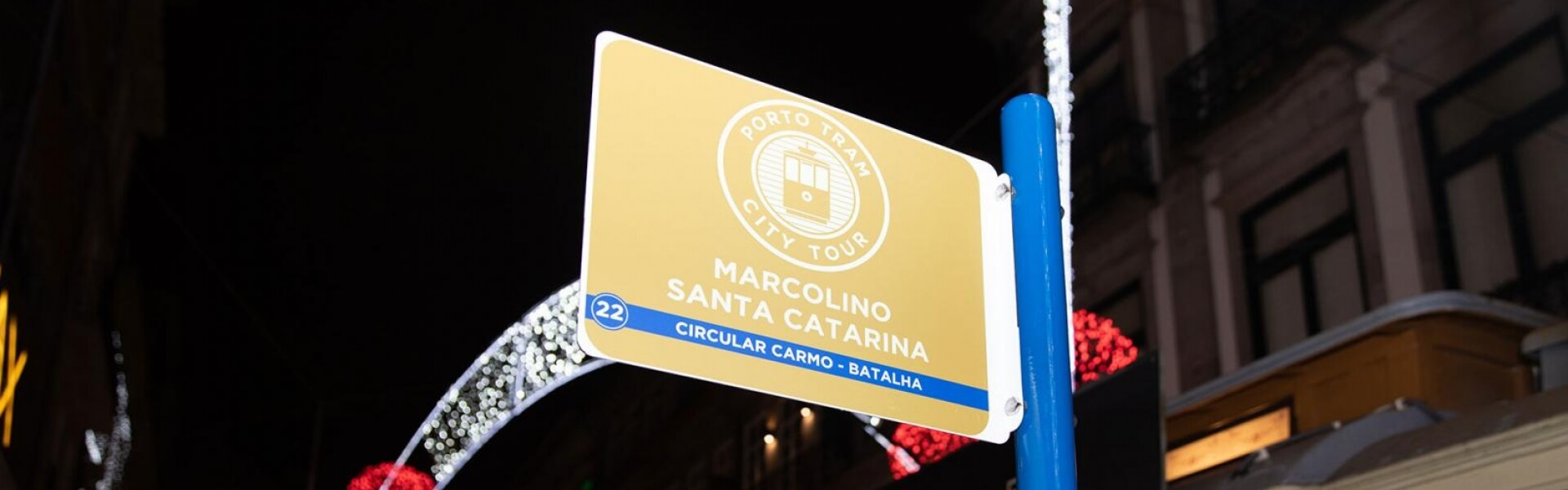 """Marcolino inaugurated on 12/14/19, through its ambassador, the actor Diogo Morgado, its tram sign that marks the official stop with the name """"Marcolino"""" in the street of santa catarina. So you can come to us by tram and stop next to our store."""